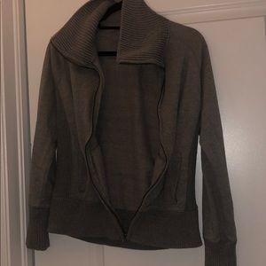 Other - Girls Zip Up Gray Sweater Great Condition XL